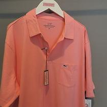 Vineyard Vines Classic Designer Pink Cotton Whale Pocket Polo Shirt Xl Nwt    Photo