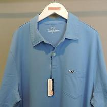 Vineyard Vines Classic Designer Solid Blue Whale Pocket Polo Shirt Xl Nwt    Photo