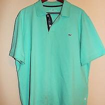 Vineyard Vines Classic Fit Pique Knit Polo Blue Mist Xl Casual Shortsleeve Shirt Photo