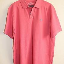 Vineyard Vines Classic Fit Pique Knit Polo Jetty Red L Casual Short Sleeve Shirt Photo