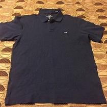 Vineyard Vines Classic Fit Pique Knit Polo Navy Blue M Casual Short Sleeve Shirt Photo