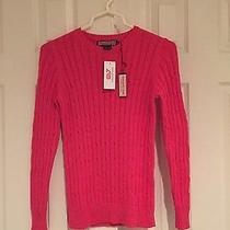 Vineyard Vines Coral Cable Knit Sweater Xs Photo