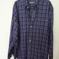 Vineyard Vines Cotton Classic Oxford Murray Shirt L/s Sz Xl Plaid Purple Green Photo