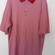 Vineyard Vines Cotton Polo Shirt Short Sleeve Red White Stripes Whale Shep & Ian Photo