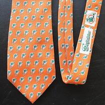 Vineyard Vines Custom Collection Neck Tie Miami Dolphins Nfl 100% Silk Usa Rare Photo