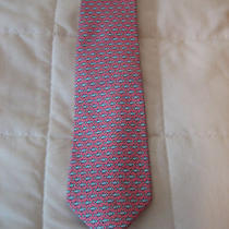 Vineyard Vines Fish Pattern 100% Silk Tie Photo