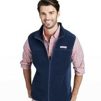 Vineyard Vines Fleece Harbor Vest Mens Size Xs Navy Blue Photo