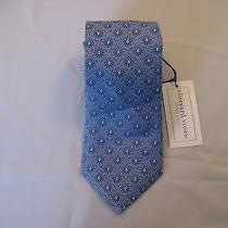 Vineyard Vines Geometric Blue Golf Country Clubs Pattern Handmade Silk Tie Mens Photo