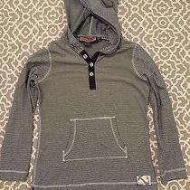 Vineyard Vines Girls Navy Blue Stripe Long Sleeve Hooded Top Size Medium(10-12) Photo