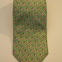 Vineyard Vines Green Cream Hand Shake Austin Golf Club Custom Silk Tie Usa Photo