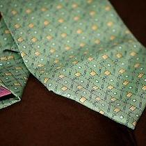 Vineyard Vines Green Golf Club Flag and Ball Suit Tie 60
