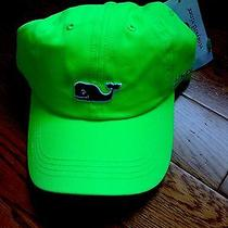 Vineyard Vines Hat / Cap Whale Logo New Neon Green Navy Whale Photo