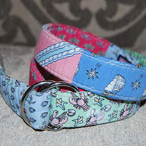 Vineyard Vines Kids Boys Girls Child D-Ring Patchwork Belt Lobster Scubadiver M Photo