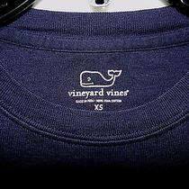 Vineyard Vines L/s Crew Tee Shirt in Navy Pima Cotton Msrp 38 Nwot - Xs Photo