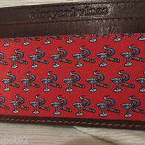 Vineyard Vines Leather/silk  Martini & Cigar Card Case/wallet-Shop for Hat Too Photo