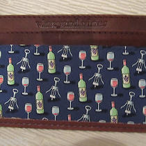 Vineyard Vines Leather/silk Wine/corkscrew Card Case/wallet-Shop for Hat Too  Photo