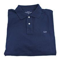 Vineyard Vines Long Sleeve Classic Pique Polo Vineyard Navy Blue Shirt Xl New Photo