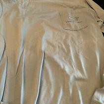Vineyard Vines Long Sleeve Vv Logo Tee  Grey 100% Pima Cotton Size Xs Photo