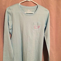 Vineyard Vines Long Sleeved T Vintage Whale - Dolphin Blue Size Xs Photo