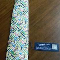 Vineyard Vines Men's Large Whale Yellow Pink Baby Dark Blue Green Tie New W/tags Photo