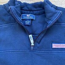 Vineyard Vines Mens Navy Blue 1/4 Zip Pullover Shep Shirt Sweatshirt Small Photo