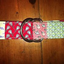 Vineyard Vines Men's Patchwork D Ring Fabric Belt- Size Small- Retails 50 Photo