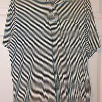 Vineyard Vines Men's Polo Shirt-Size Xl-Blue and White Stripes-Some Wear Photo