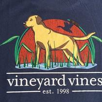 Vineyard Vines Men's Xl X Large Graphic T Shirt Labrador Hunting Fishing Photo