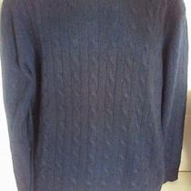Vineyard Vines Mens 100% Cashmere  Solid Navy Blue Sweater Large L Shep & Ian Photo