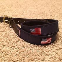 Vineyard Vines Mens American Flag Belt Size 32 New Free Shipping Photo