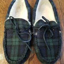 Vineyard Vines Mens Blackwatch Genuine Shearling-Lined Slippers Size M Photo