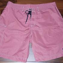 Vineyard Vines Mens Board Shorts Sz W38 Xl Pink 100% Polyester Photo