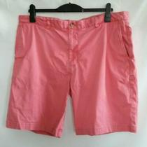 Vineyard Vines Mens Casual Shorts Pink Flat Front Cotton Blend 40 Photo