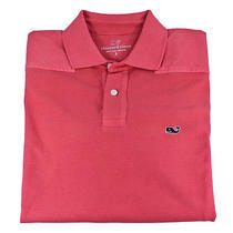 Vineyard Vines Mens Garment-Dyed Shep Polo Jetty Red Cotton Shirt M New Photo