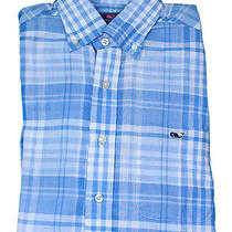 Vineyard Vines Mens Jake Blue Sandbar Plaid Tucker Button Down Shirt M New Photo