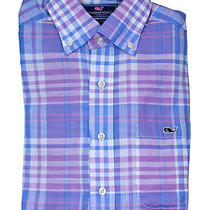 Vineyard Vines Mens Jelly Bean Sandbar Plaid Tucker Button Down Shirt S New Photo