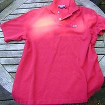 Vineyard Vines Mens Large Bright Label  Pink All Cotton Pique Polo Shirt Great Photo