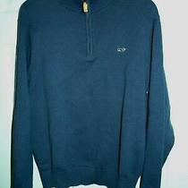 Vineyard Vines Mens Navy Blue 1/4 Zip Pullover Sweater Size Medium Photo