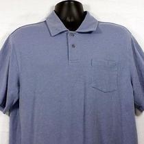 Vineyard Vines Mens Polo Shirt Size L Short Sleeve Blue Chest Pocket Whale Photo