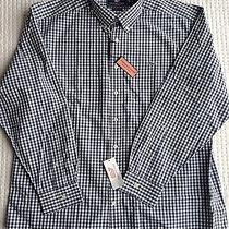 Vineyard Vines Mens Size L Large Slim Fit Whale Shirt Blue Ocean Splash Gingham Photo