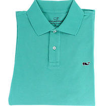 Vineyard Vines Mens Solid Classic Polo Short Sleeve Antigua Green Shirt S New Photo