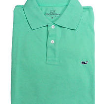 Vineyard Vines Mens Solid Terrapin Short Sleeve Pique Polo Shirt S New Photo