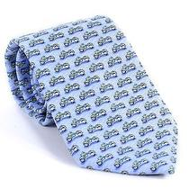 Vineyard Vines Mens Tie Motorcycle Bike Light Blue Silk Necktie Accessory New Photo