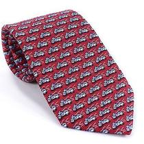 Vineyard Vines Mens Tie Motorcycle Bike Red Silk Colorful Necktie Accessory New Photo