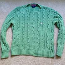 Vineyard Vines Mint Green Cable Crewneck Sweater Xl Photo