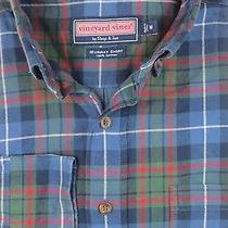 Vineyard Vines Multi-Color Checks & Plaids Long Sleeve Men's Shirt Sz M Medium Photo