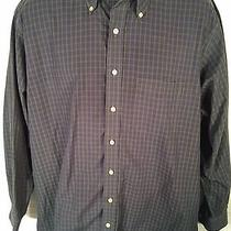 Vineyard Vines Murray Cotton Men's Shirt Xl Dark Green and Blue Plaid Check Euc Photo