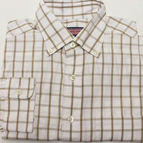 Vineyard Vines Murray Men's Long Sleeve Shirt Sz S Small White/beige Check Photo