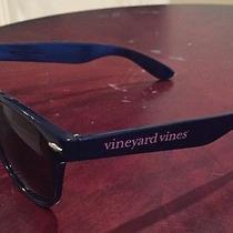 Vineyard Vines Navy Blue Signature Wayfarer Glasses Uv Sunglasses Used Photo
