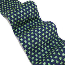 Vineyard Vines Navy Bright Green Clovers Handmade Silk Tie Exc Photo